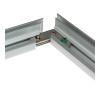 Unir las guías de aluminio cortadas en bisel...