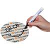 Dependiendo del motivo será posible escribir con un rotulador resistente al agua sin ningún problema (incluso con acabado plano con lacado UV)