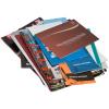 Impreso sobre papel cuché, papel offset o papel reciclado. Se puede elegir el acabado opcional del sobre