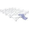 desenvuelva el tejido de poliéster impreso y despliéguelo sobre el sistema de rejas