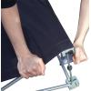 Presione fuertemente el tejido de poliéster impreso sobre el velcro