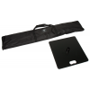 Bolsa de transporte (incluida) y placa de base (opcional) con unas dimensiones de 49x 49cm y un peso de 15kg