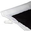 Para mástil con brazo saliente: costura reforzada para la barra del brazo saliente (máximo 3cm de diámetro)