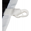 Bucle cosido con mosquetón de material sintético