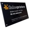 Letreros de PLEXIGLAS®   incoloro de 4 mm, impresión de alta calidad, para el uso en interiores y exteriores (similar a la imagen).