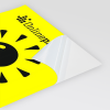 papel neón amarillo (similar a la imagen)