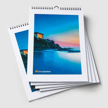 Calendario A2.Calendario De Pared Con Espiral A2 420x594 Mm Onlineprinters
