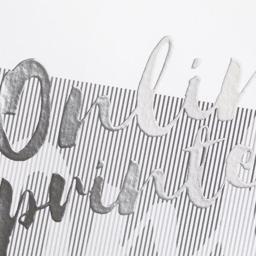Tarjetas postales con laminado plata parcial
