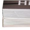 arriba: Hotmelt o PUR (a nivel visual no hay diferencia) - abajo: encuadernación cosida además de encolada (la mejor calidad de unión)
