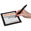 Adhesivos para interiores con papel autoadhesivo 73 g/m² escribible con cualquier bolígrafo.