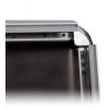 Fácil cambio de motivo, el perfil del marco abatible con 32mm de ancho puede abrirse fácilmente.