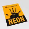 papel neón naranja (similar a la imagen)