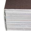 encuadernación encolada PUR: se perfila el lomo del bloque de un libro y se encola con la cubierta