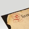 Primer plano de cartulina marmolada impresa