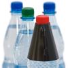 banderola de botella, sujetada en el reverso