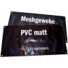 Lonas de 500 g/m² PVC mate y 300 g/m² tejido Mesh de PVC, opcionalmente con ojales todo alrededor (similar a la imagen)