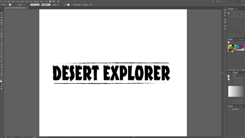 diseño de logotipo en Illustrator