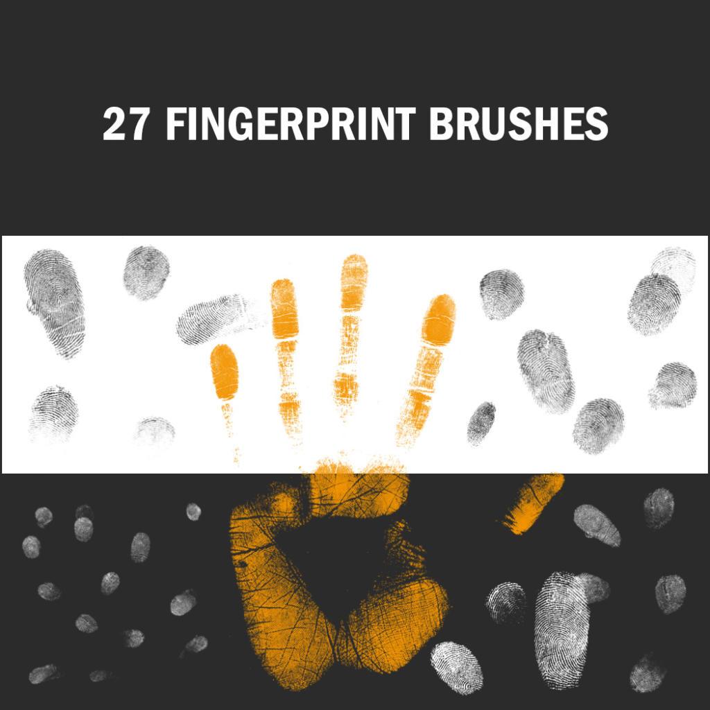 pinceles de Photoshop en forma de huellas digitales