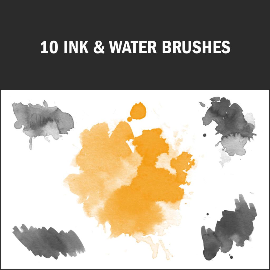 Pinceles de Photoshop: tinta y agua