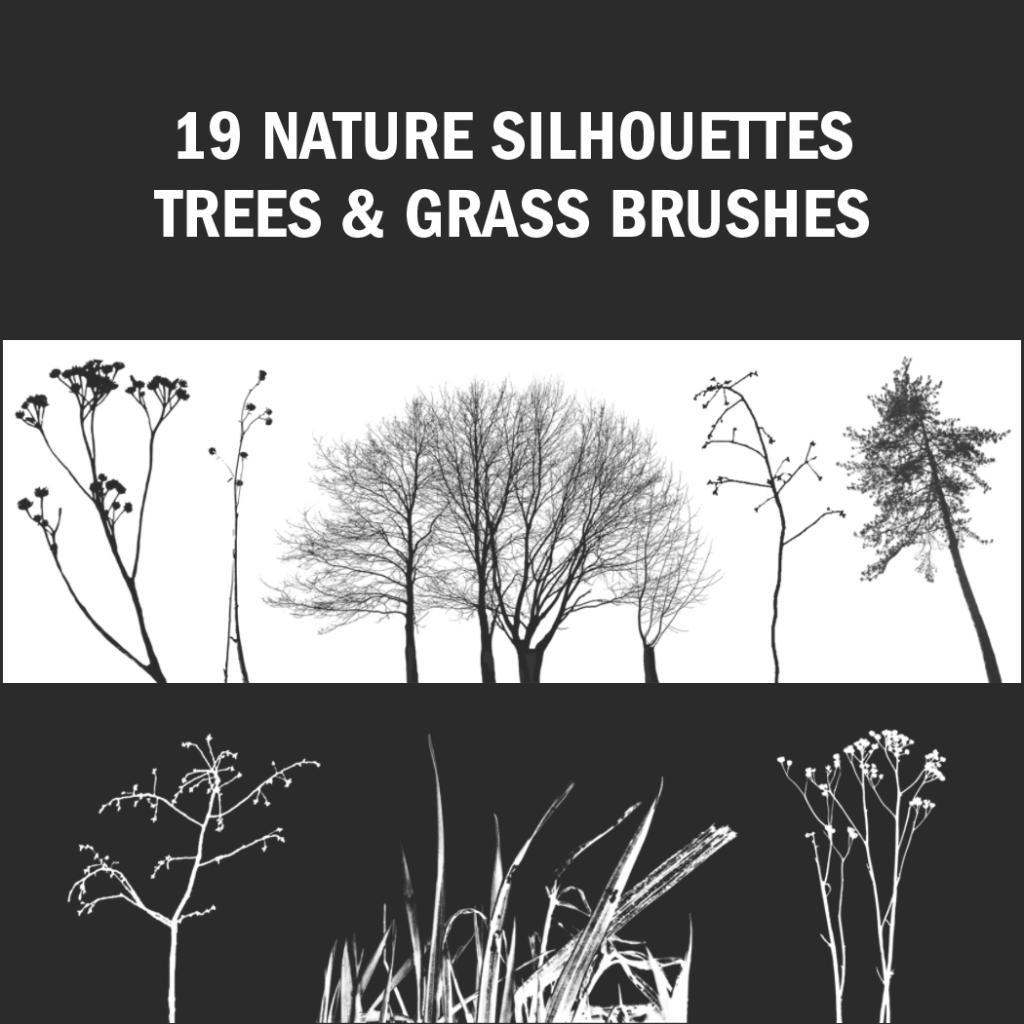 pinceles de Photoshop - siluetas de árboles