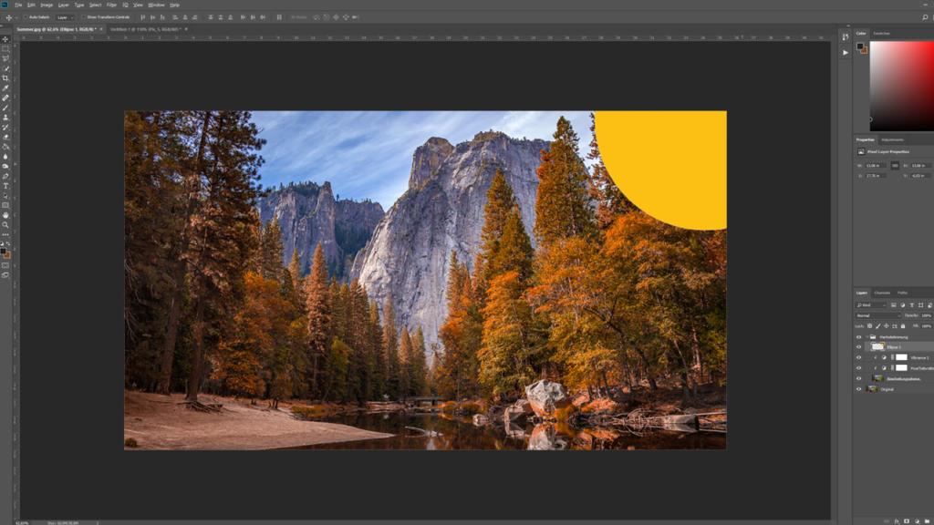 Añadir una fuente de luz artificial - acciones de Photoshop