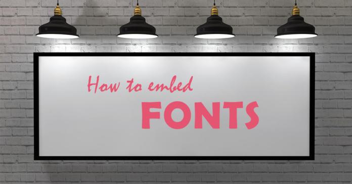 Incrustar fuentes con Photoshop, InDesign, Illustrator