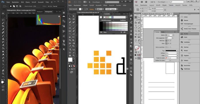 Crear datos de impresión en Photoshop, Illustrator, InDesign