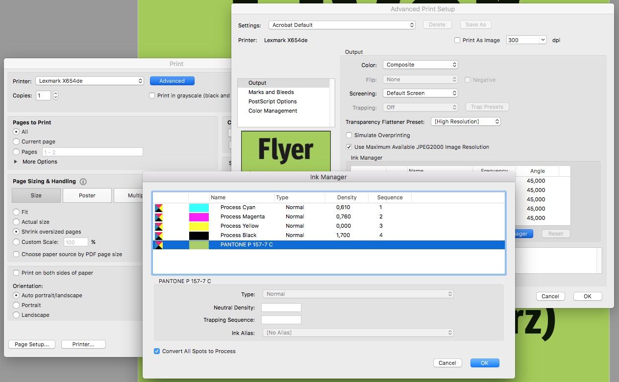 En el menú de impresión puedes controlar los colores, igual que en el administrador de tinta. En este último puedes también convertirlos