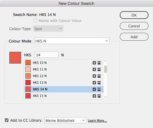 HKS identifica sus colores con números