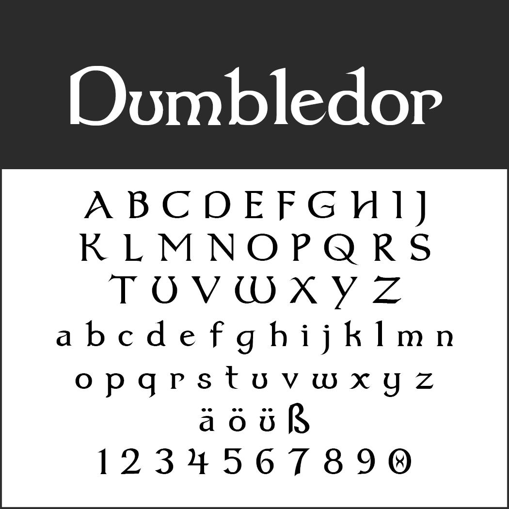Harry Potter font Dumbledor