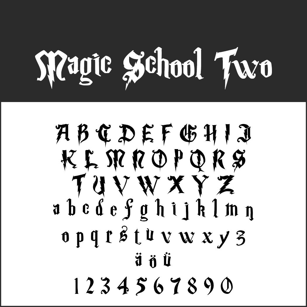 Harry Potter font Magic School Two