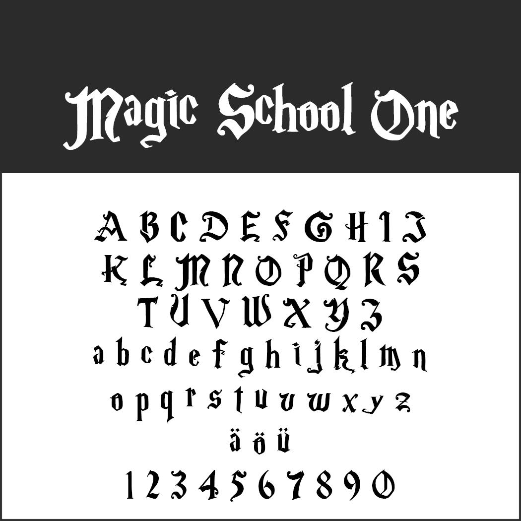 Harry Potter font Magic School One
