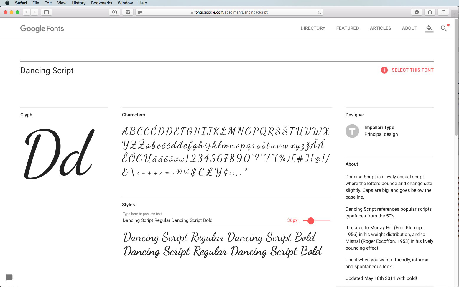 Script Font Dancing Script Regular