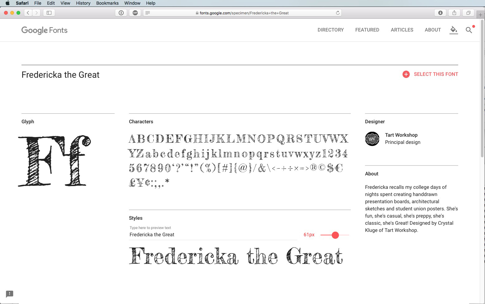 Script Font Fredericka the Great